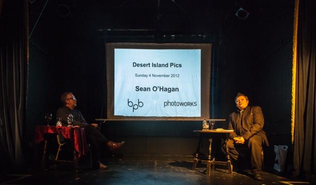 Sean O'Hagan (left) with Stephen Bull (right)
