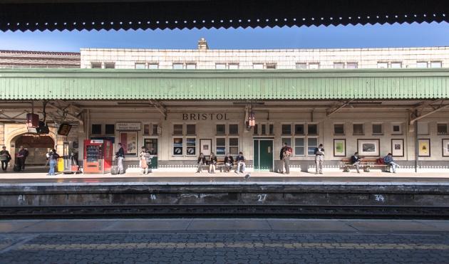 passengers on the platform @ Bristol station