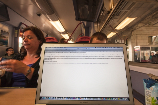 writing up the symposium on my way home by train