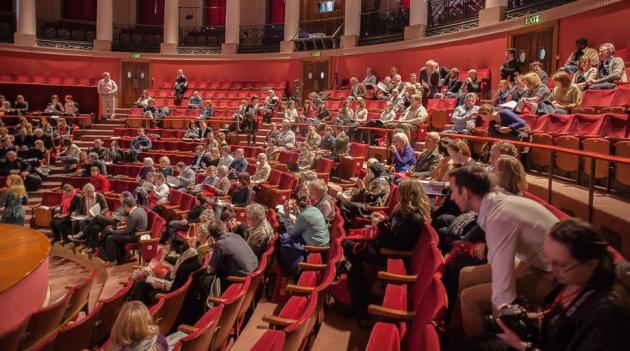 audience inside the Reardon Smith memorial Hall