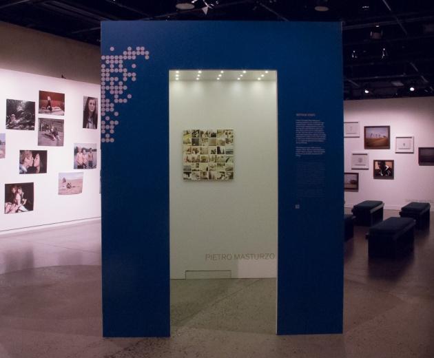 Pietro Masturzo exhibits his work in a cubicle