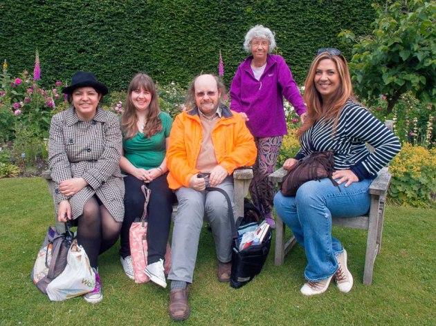 from left to right ... Patrizia Longhitano, Laura Gardner, Amano Samarpan, Maria Keenay and standing, tutor Elizabeth Kay