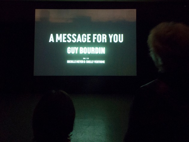 a movie showing Bourdin's work with music from the time