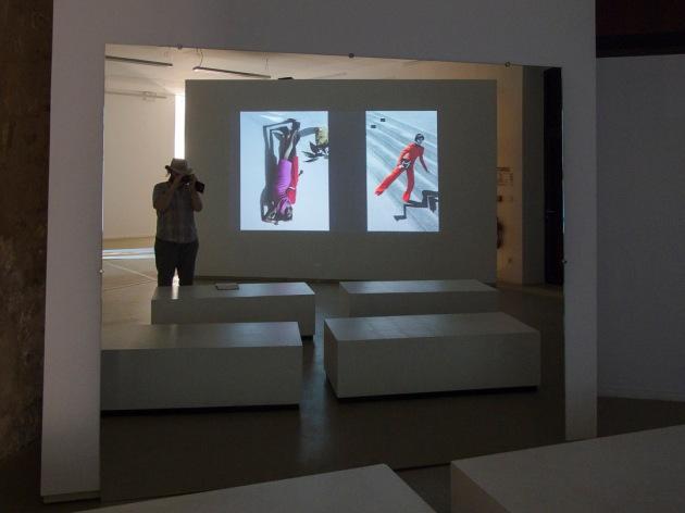 self-portrait in the exhibition
