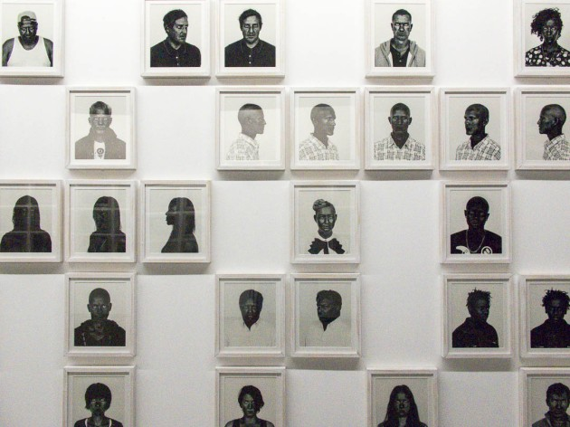 mosiac of photos from Pieter Hugo's display