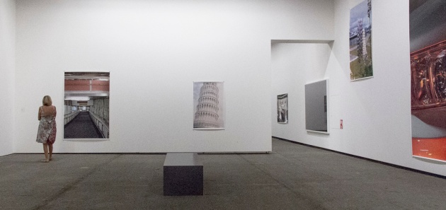view of Tilmans exhibition space