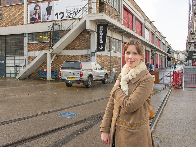 Sharon Boothroyd outside the Mshed