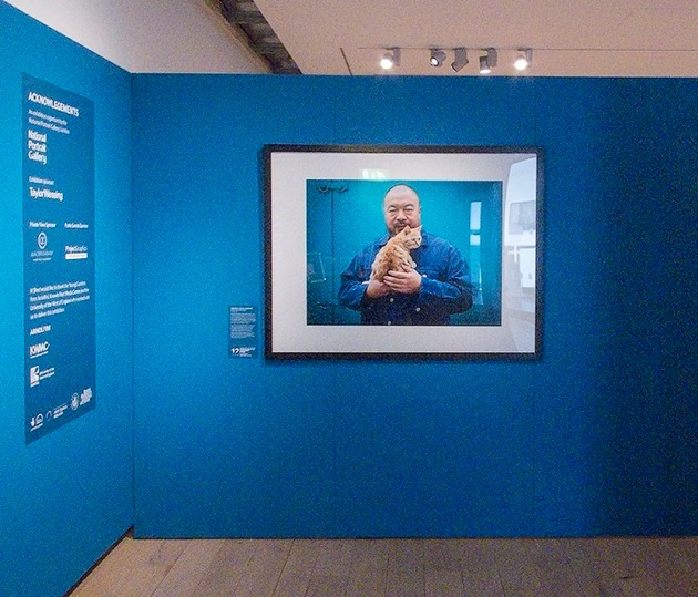 photograph of Ai Weiwei in the exhibition space