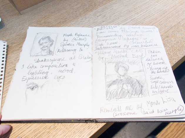 student Dorothy Flint's sketches from the day