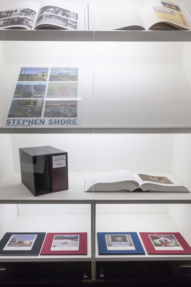 cabinet in passage way where Stephen Shores books were kept