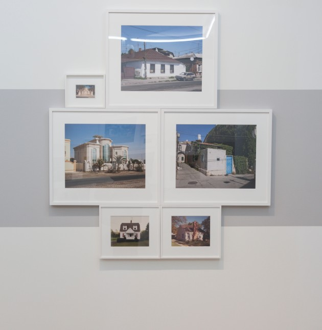 grouping of photographs of suburban houses