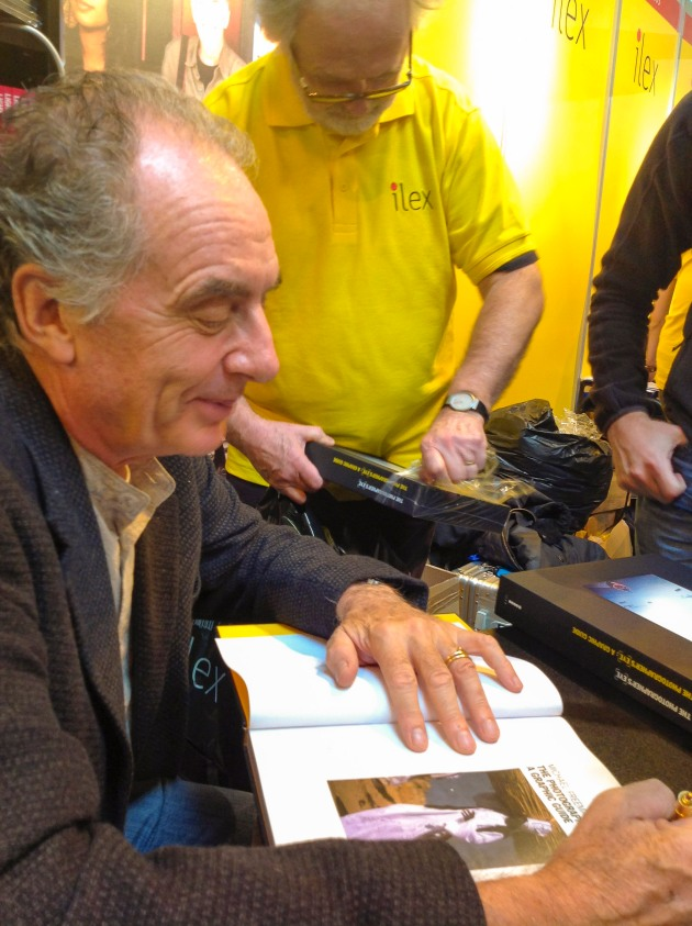 Michael Freeman signing books