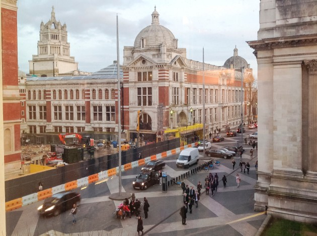 view of Exhibition Road from the Science Museum