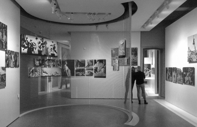 The exhibition space in Luxembourg is a reconstruction of the original MOMA exhibition space that had been designed by an architect