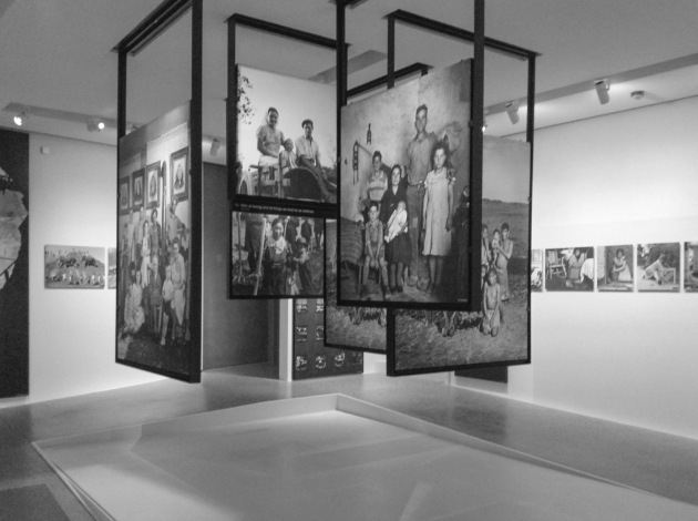 photographs of families, a central part of the exhibition