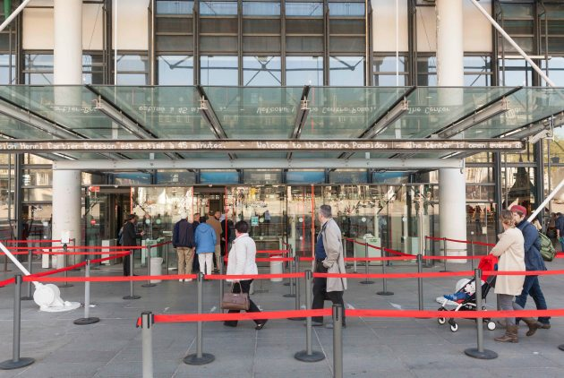 entrance to the George Pompidou Centre