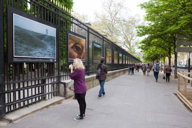 """Fields of Battle, Lands of Peace"" exhibition Boulevard Saint Michel, Luxemborg Gardens"