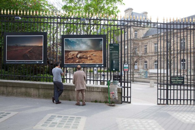 """Fields of Battle, Lands of Peace"" exhibition Boulevard Saint Michel, Luxemborg Gardens"
