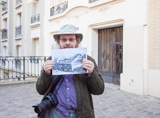 outside 18, Rue Mont Cenis (photo courtesy Eileen O'Raffferty)