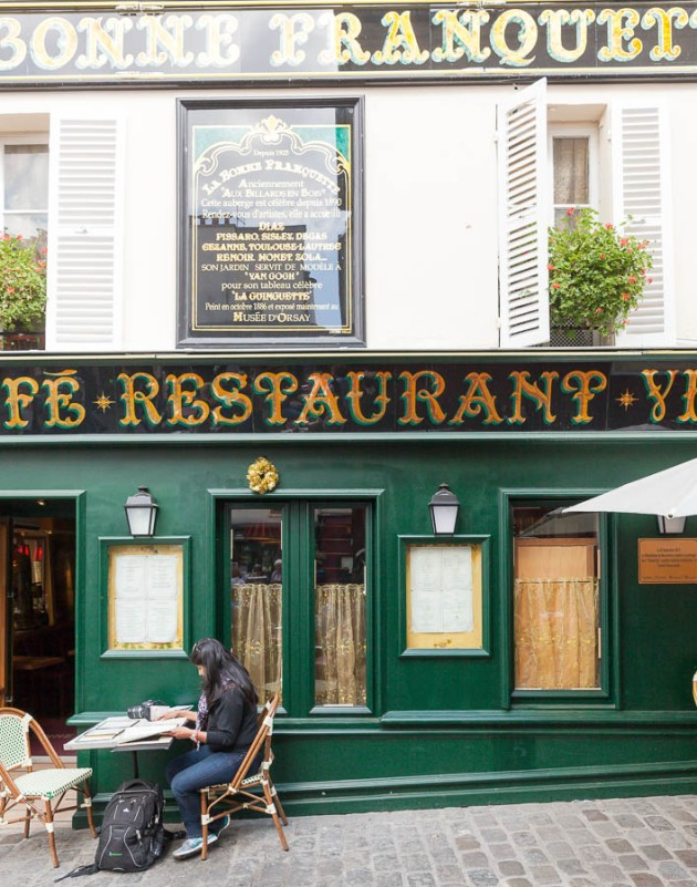 Another Atget subject; a cafe where famous artists once met
