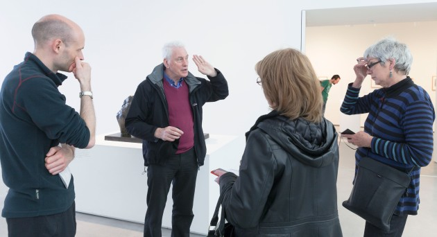 Gerald Deslandes talks to students