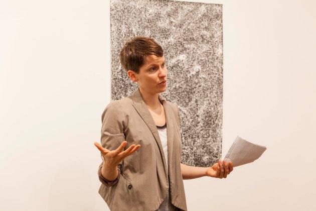 explaining work by Jochen Lampert