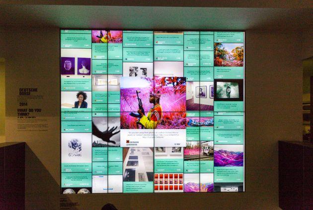 Richard Mosse's work downstairs on the digital screen