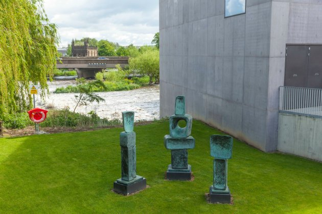 outside the Hepworth Gallery at Wakefield