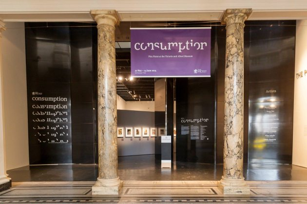 Entrance to the Consumption exhibition