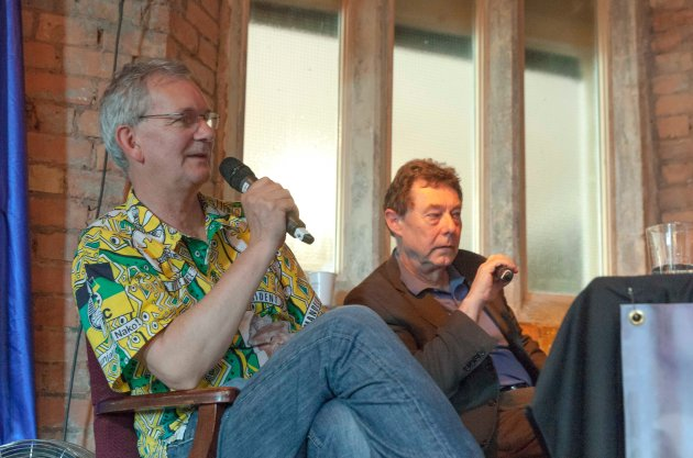 Martin Parr (left) with Gerry Badger