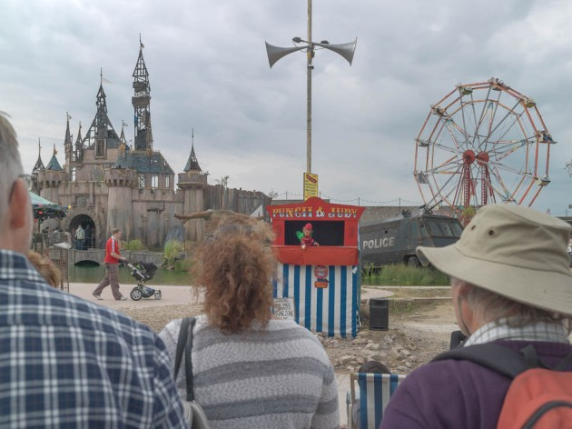 Punch and Judy show at Dismaland
