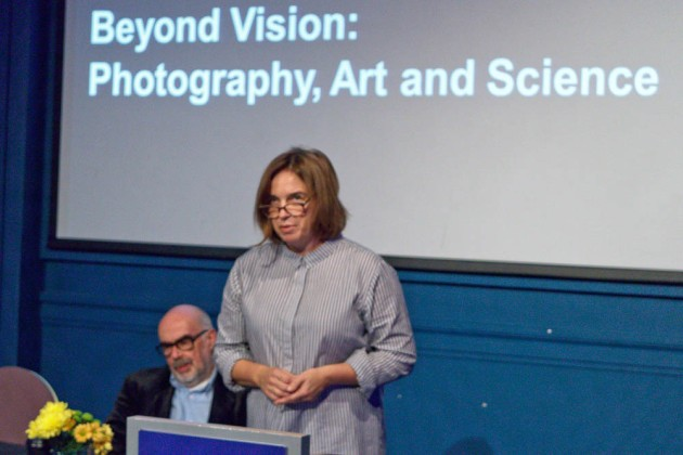 Kate Bush of the Science Museum introduces the event