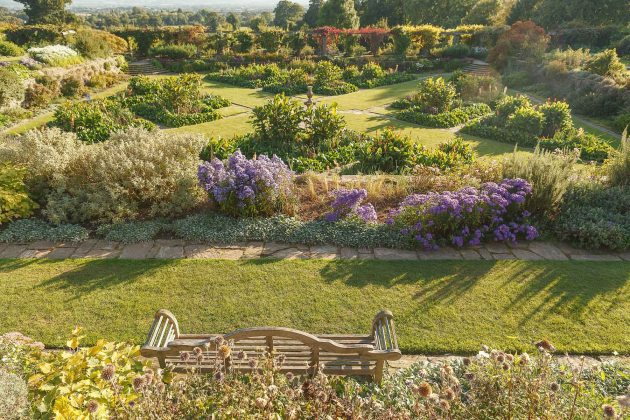 The part of the garden built by Gertrude Jekyll whose photographs are being exhibited