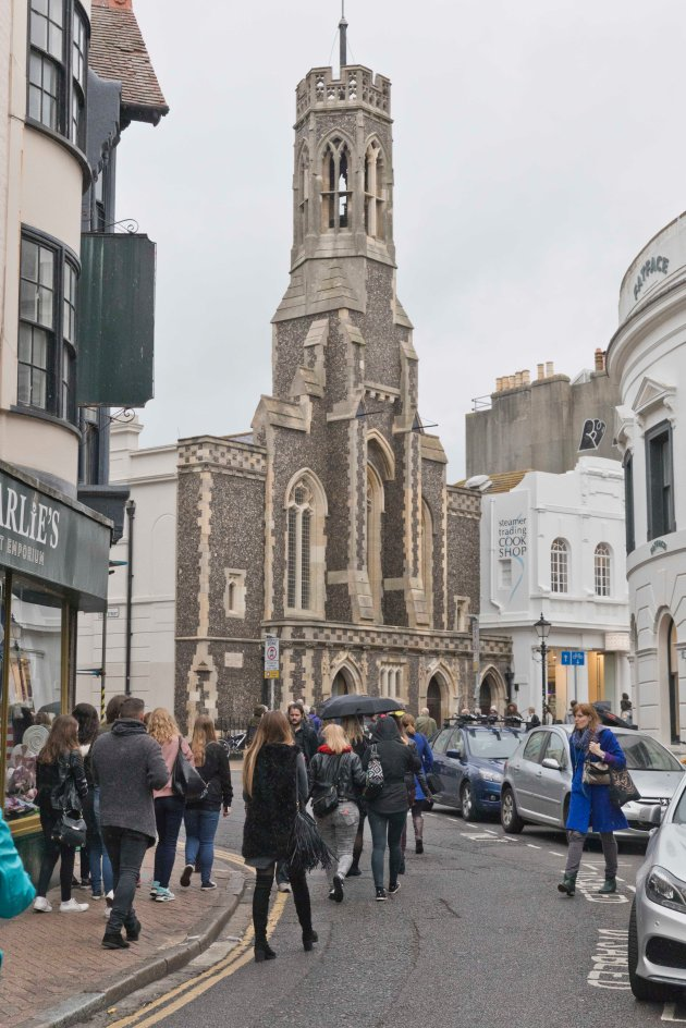 Fabric gallery is based in the church seen here